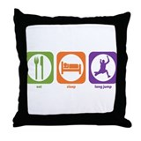 Eat Sleep Long Jump Throw Pillow