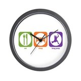 Eat Sleep Long Jump Wall Clock