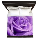 Cute Purple rose King Duvet