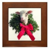 Christmas Lamb Framed Tile