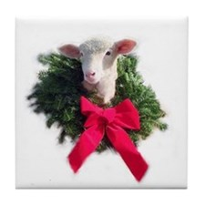 Ewephoric Christmas Wreath Coaster