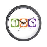 Eat Sleep Pole Vault Wall Clock