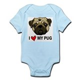 I Heart My Pug Infant Bodysuit