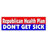 HEALTH PLAN... Bumper Car Sticker