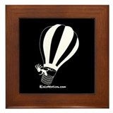 Kokopelli Hot Air Balloonist Framed Tile