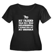 Delusional Unicorn Plus Size T-Shirt