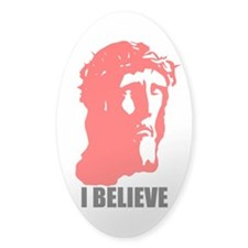 I BELIEVE Oval Decal