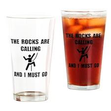 Rocks Calling Go Drinking Glass
