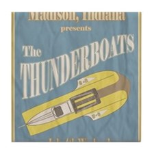 Vintage Thunderboat Tile Coaster
