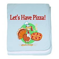 Lets Have Pizza baby blanket