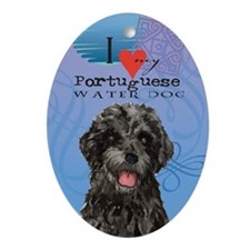 Portuguese Water Dog Ornament (Oval)