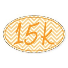 15k Orange Chevron Decal