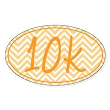 10k Orange Chevron Decal