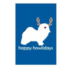 "Havanese ""Happy Howlidays"" Postcards (Package of 8"