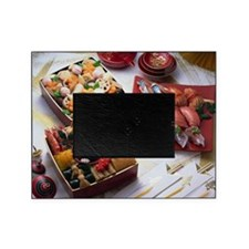 Japanese New Year Dishes and sushi Picture Frame