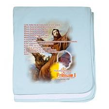 Prayer of St. Francis: baby blanket