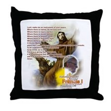 Prayer of St. Francis: Throw Pillow