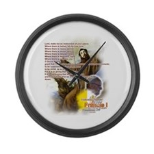 Prayer of St. Francis: Large Wall Clock
