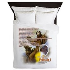 Prayer of St. Francis: Queen Duvet
