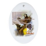 Prayer of St. Francis: Ornament (Oval)