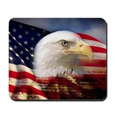 Digital composite: American bald eagle an Mousepad