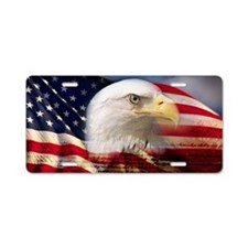 Digital composite: American Aluminum License Plate