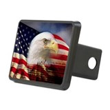 Digital composite: America Rectangular Hitch Cover