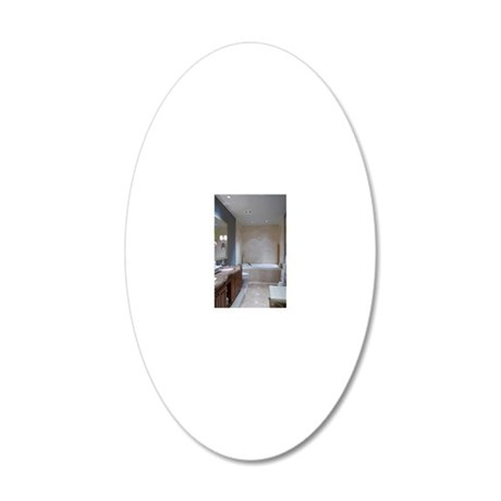 Bathroom 20x12 Oval Wall Decal