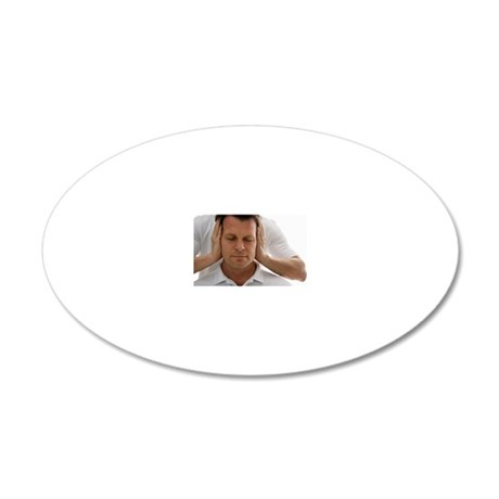Doctor giving patient neck a 20x12 Oval Wall Decal