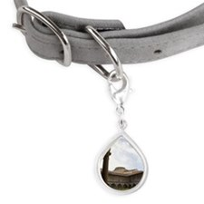 Arches and courtyard at Aca Small Teardrop Pet Tag