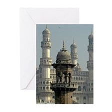 Minarets, Hyderabad Greeting Cards (Pk of 10)
