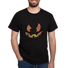 Halloween Jack O Lantern Black Tee Shirt