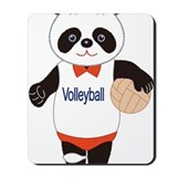 Panda Volleyball Player Mousepad
