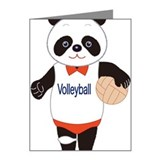 Panda Volleyball Player Note Cards (Pk of 10)
