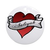 Aaliyah Heart Tattoo Ornament (Round)