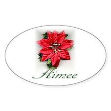 Poinsettia Aimee Oval Decal