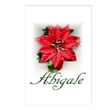 Poinsettia Abigale Postcards (Package of 8)