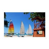 Catamarans and lifeguard stand on Wall Decal