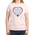Open Your Heart Women's Light T-Shirt