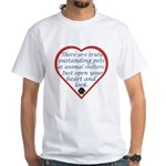 Open Your Heart White T-Shirt