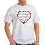 Open Your Heart Ash Grey T-Shirt