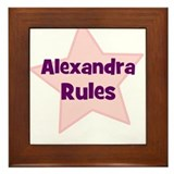 Alexandra Rules Framed Tile