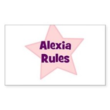 Alexia Rules Rectangle Decal