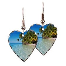 Coconutpalm shore at tropical  Earring