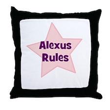 Alexus Rules Throw Pillow