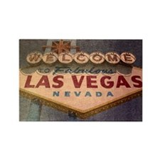 Welcome to Las Vegas sign Rectangle Magnet