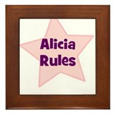 Alicia Rules Framed Tile
