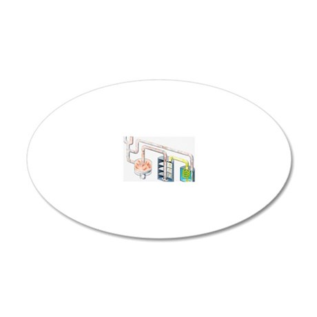 Illustration of pure hydroge 20x12 Oval Wall Decal