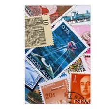 Assorted foreign postage  Postcards (Package of 8)