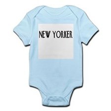 New Yorker in Pink, White, or Blue Infant Bodysuit